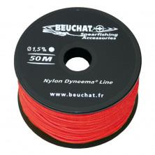 Bobina de hilo Beuchat 50M Dyneema Rojo 1,5mm